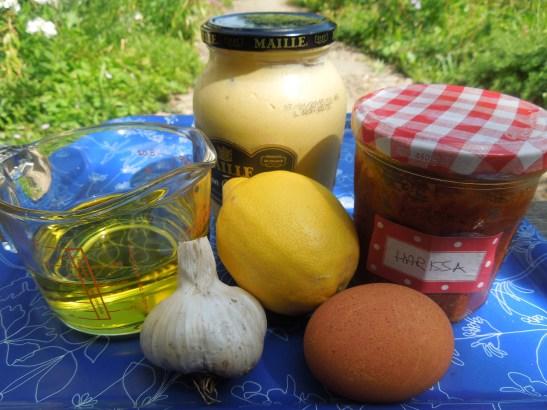 Image of harissa mayo ingredients
