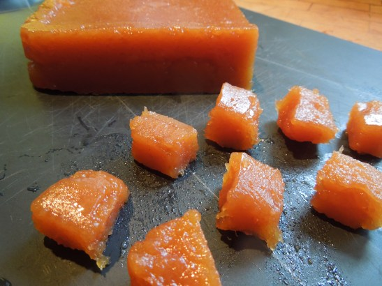 Image of quince paste or membrillo made from jelly pulp