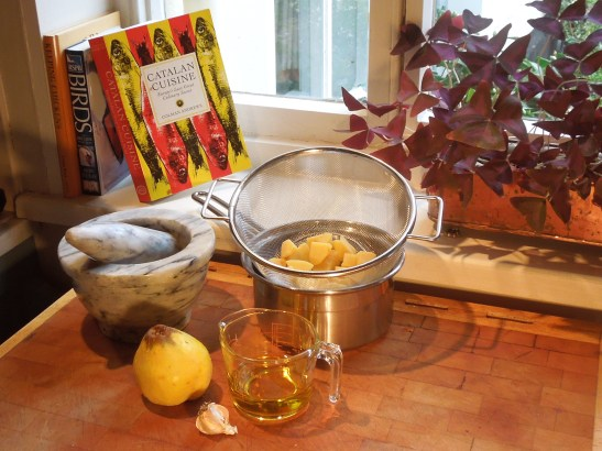 Ingredients for quince allioli