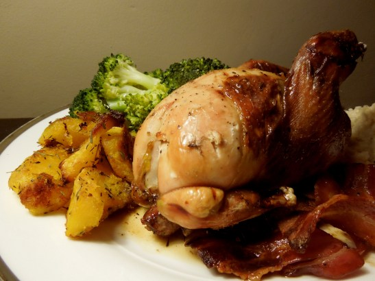 Image of partridge served with veg