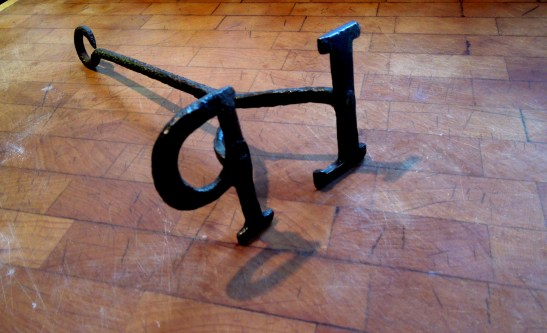 Image of Mrs Portly's branding iron