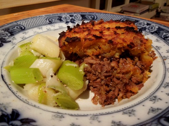 Image of Moroccan-inspired shepherd's pie served up