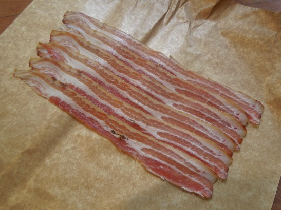 Image of thinly-sliced smoked pancetta