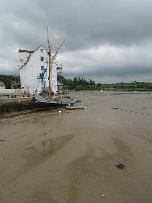 Image of the mill at low tide