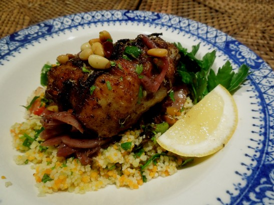 Image of dish served with couscous