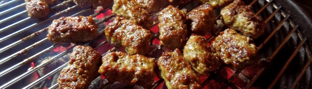 Image of Ćevapčići on the barbecue
