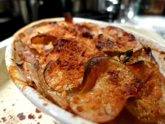 Image of potato, apple and sage gratin, cooked