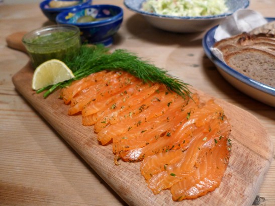 Image of sliced gravadlax