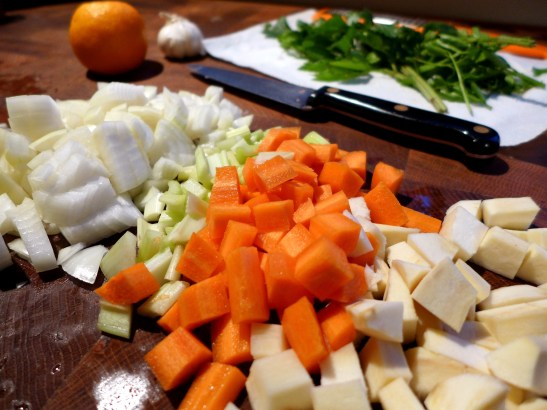 Image of chopped root vegetables