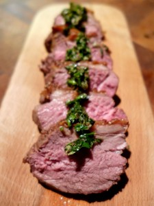 Image of lamb with salsa verde