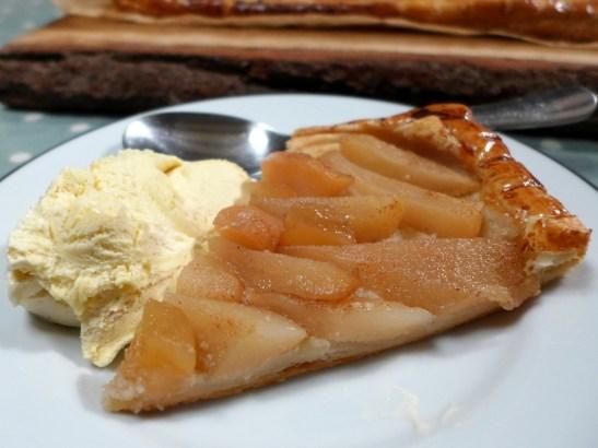 Image of a slice of tart, served