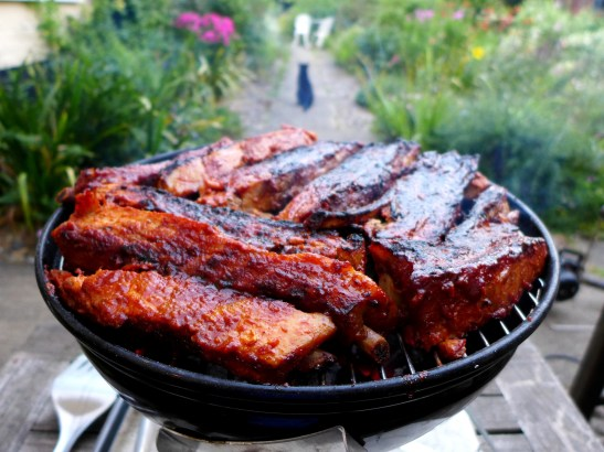 Image of ribs on the barbecue