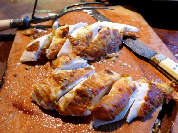 Image of chicken breasts, carved