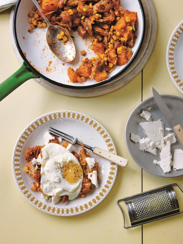 Image of chicken and sweet potato hash
