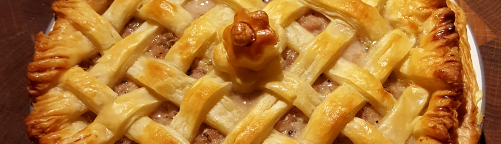 Image of latticed pastry