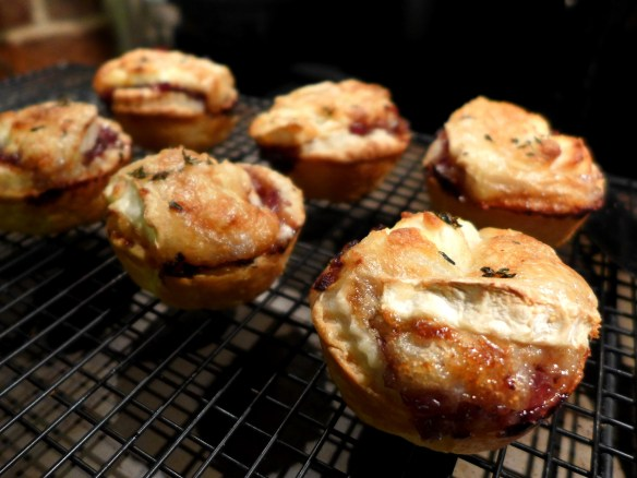Image of goat's cheese and red onion tarts