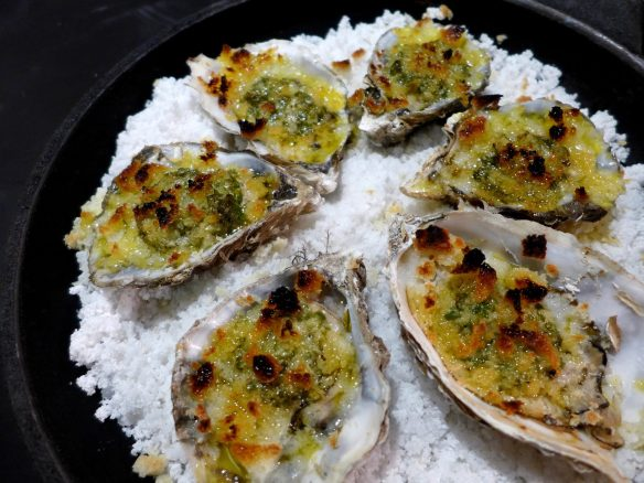 Image of grilled oysters with herb butter