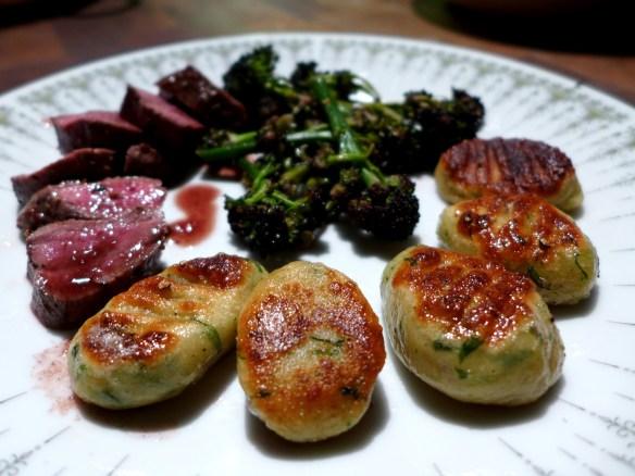 Image of gnocchi served