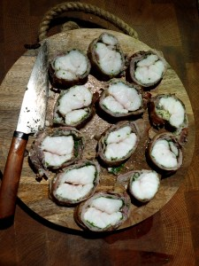 Image of sliced monkfish