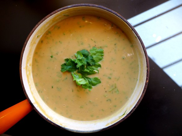 Image of chestnut and pumpkin soup