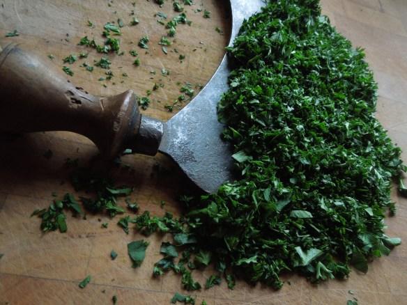 Image of chopped fresh parsley