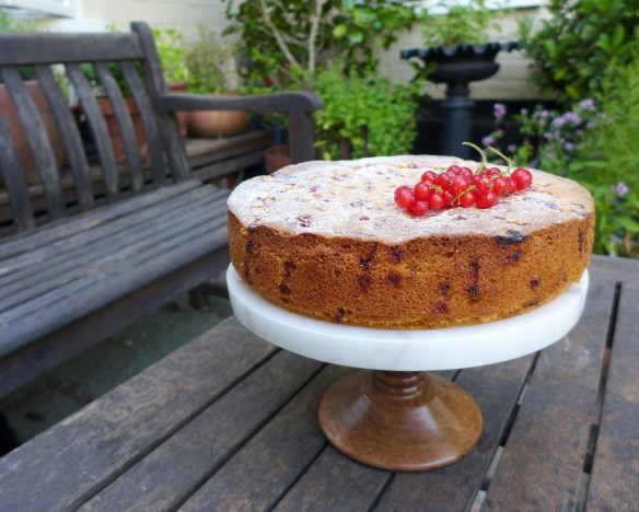 Image of redcurrant and almond cake