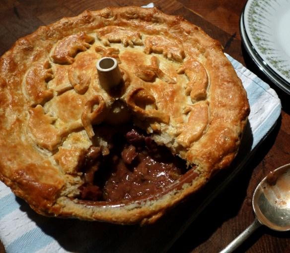 Image of pig's cheek pie
