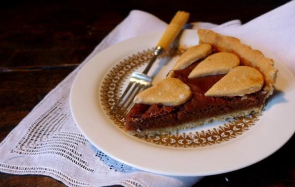 Image of a slice of medlar tart