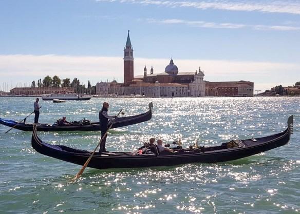 Image of Venetian gondolas
