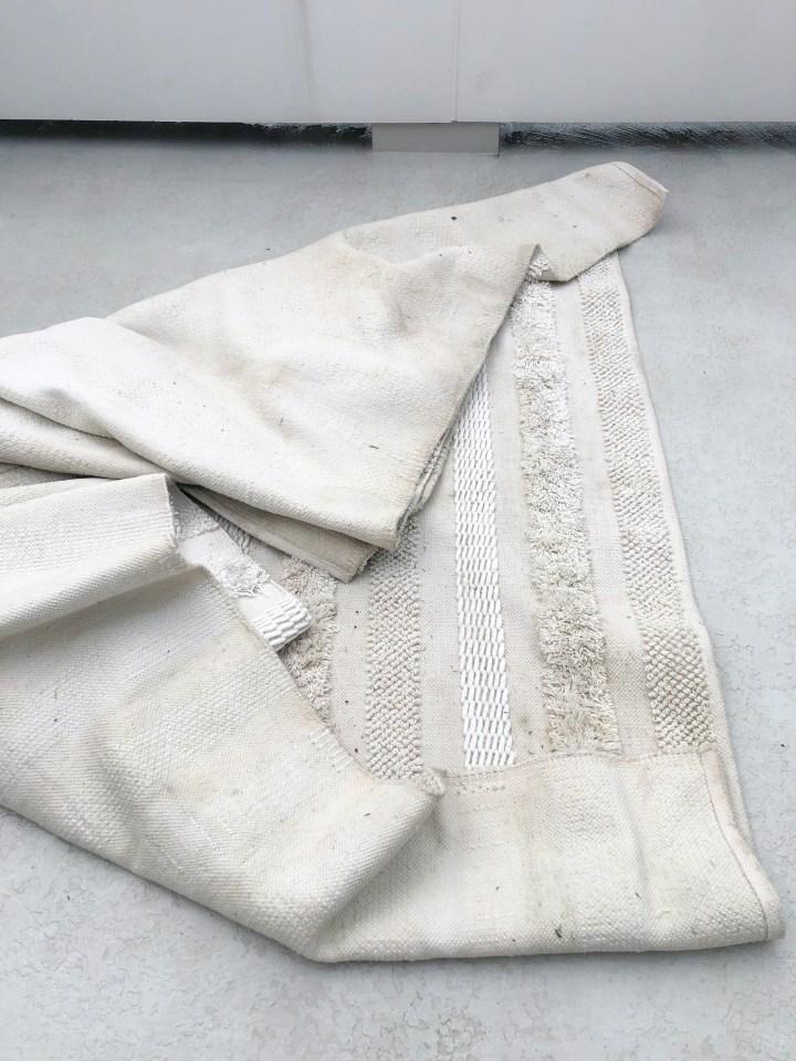 Ivory fringe indoor/outdoor rug (8' x 10')