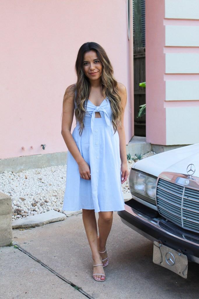 Tie Front V-Neck Summer Dress
