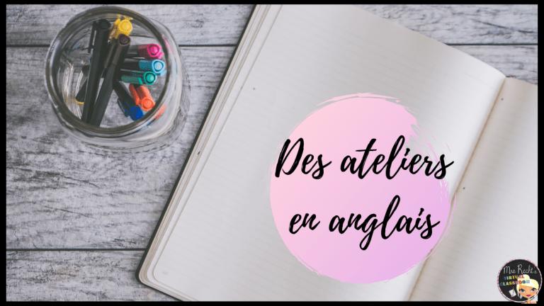 Ateliers d'écriture en anglais collège