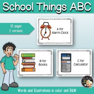 School ABC Flashcards