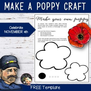 Remembrance Day Free Poppy Template