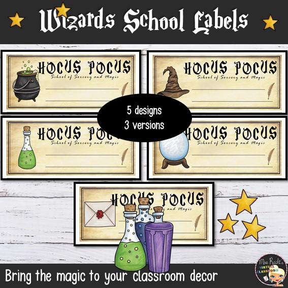 Décoration Harry Potter Etiquettes GB