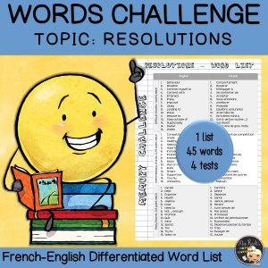 Vocabulary Word List Resolutions