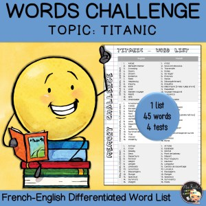 Vocabulary Word List Titanic