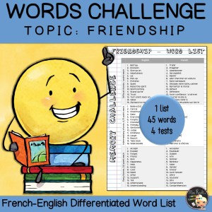 Vocabulary Word List Friendship