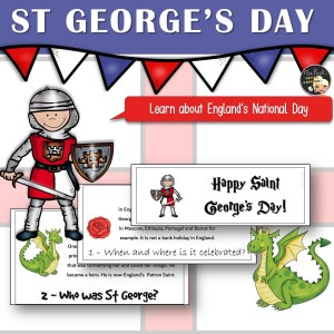 St George's Day Flapbook