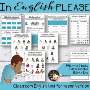 Classroom Instructions for teens Unit