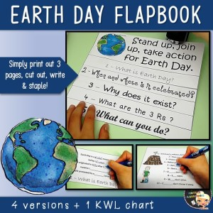 Earth Day Activities Flapbook