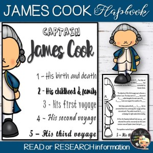 James Cook Flapbook