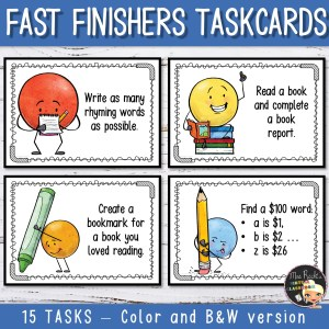 Fast Finishers Task Cards