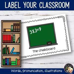 Write the room Classroom Flashcards