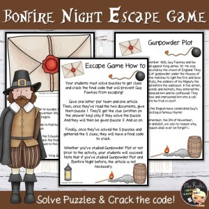 Guy Fawkes Escape Game