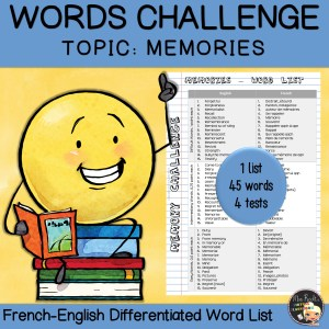 Vocabulary Word List Memories
