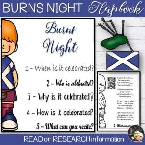 Burns Night Flapbook