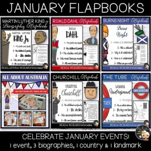 January Events Flapbook Bundle