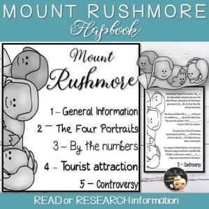 Mount Rushmore Flapbook