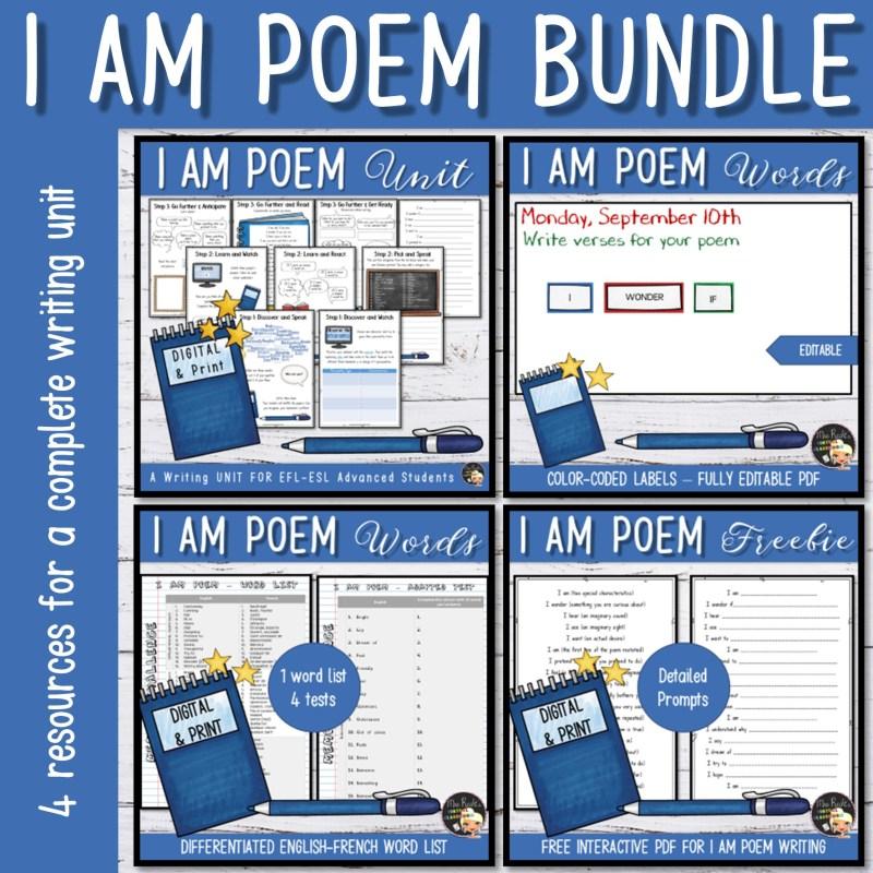 Séquence I am poem 3e Bundle